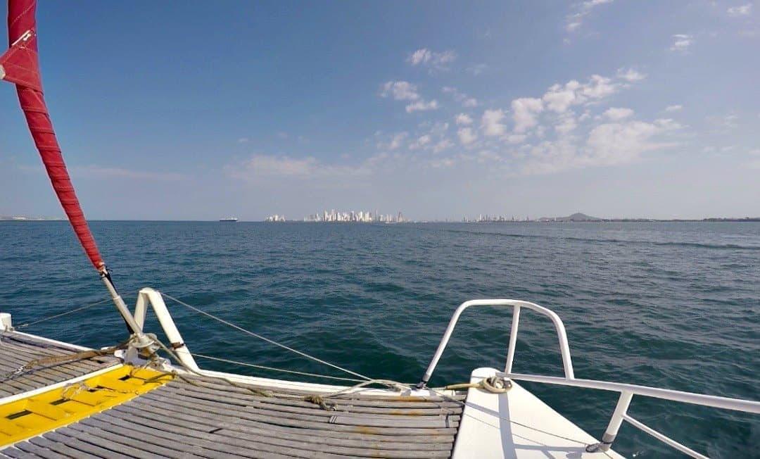 Land! Arriving in Cartagena
