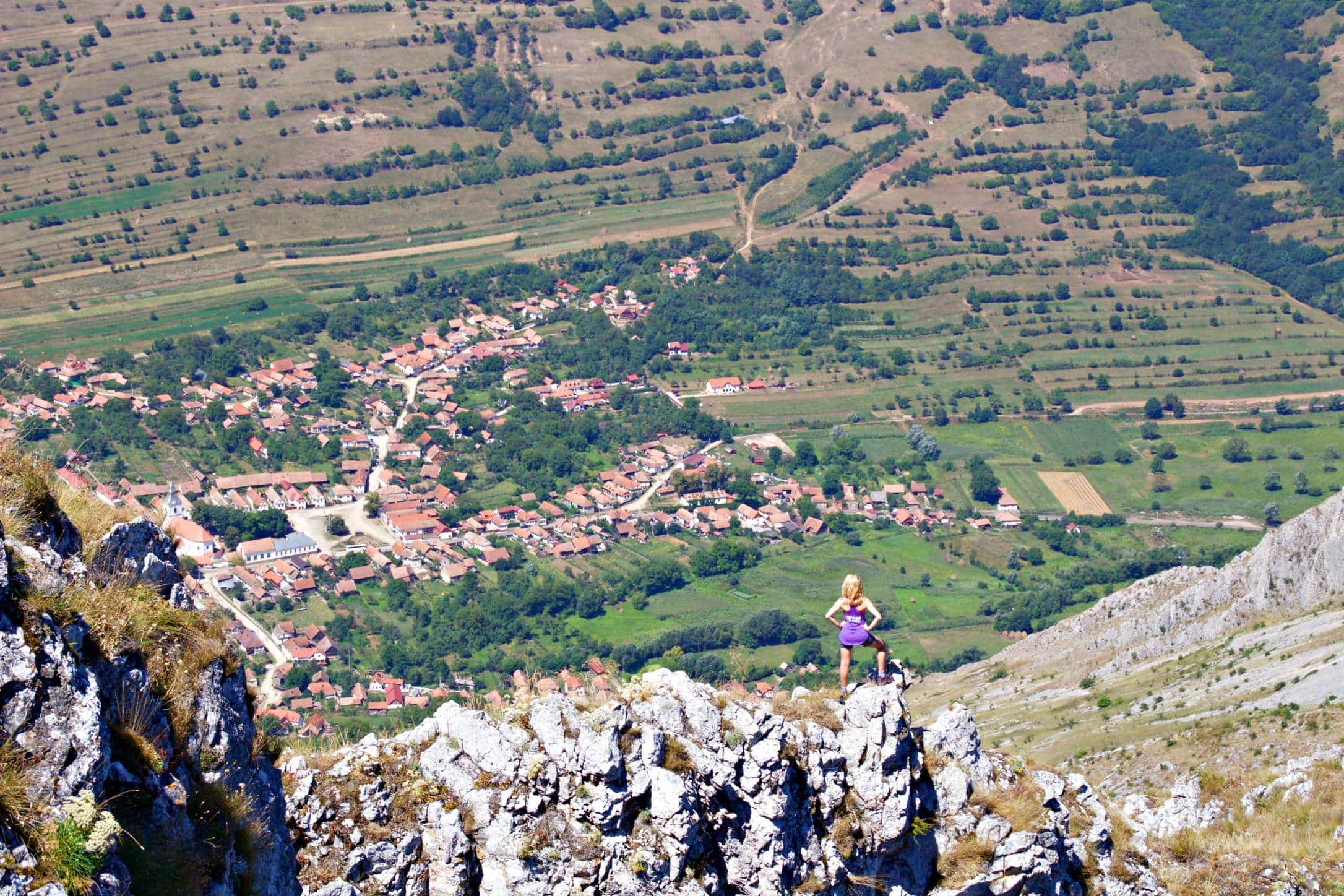 Hiking through the Piatra Secuilui Mountains in Rimetea, Romania