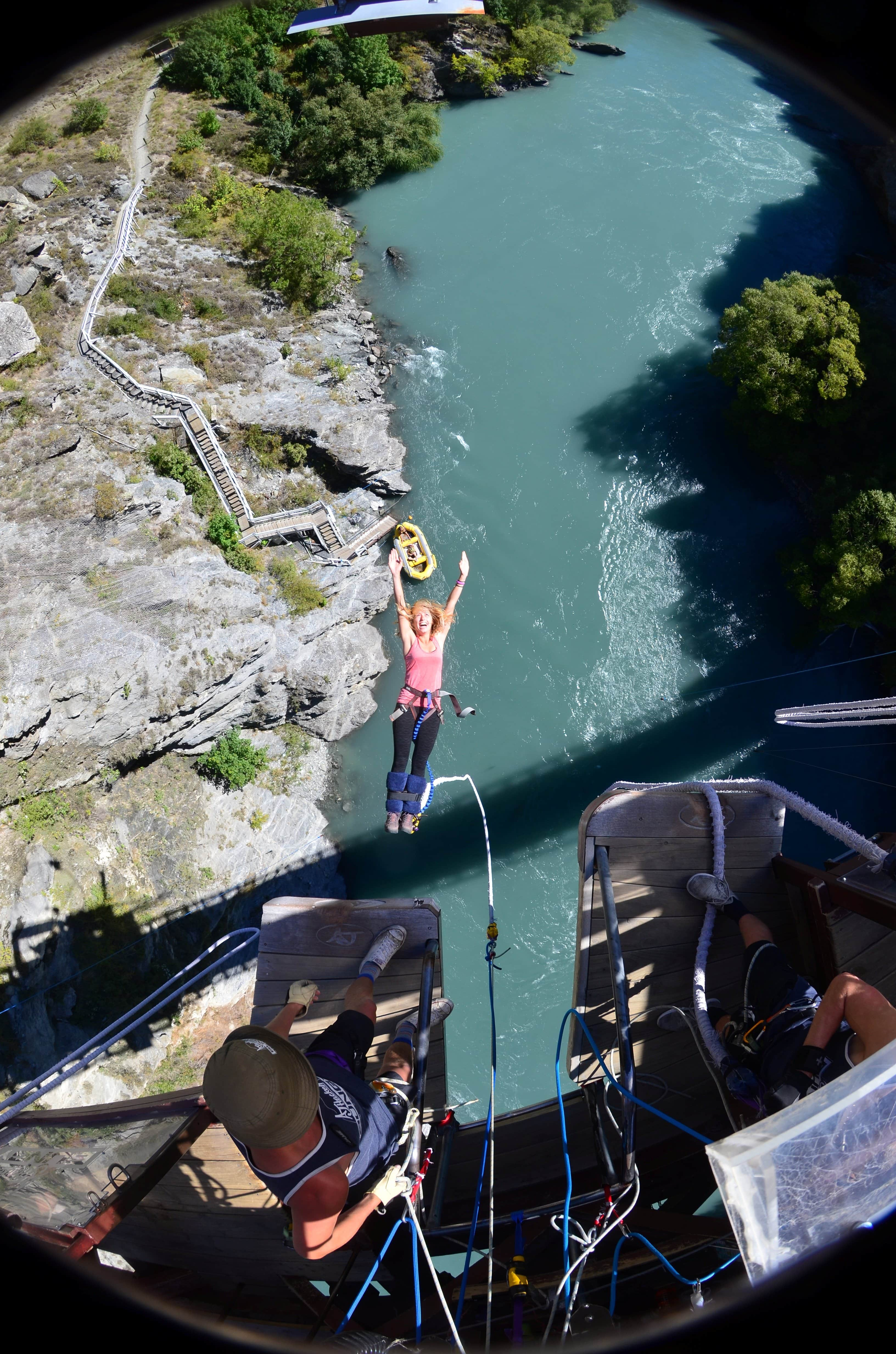 The World's First Commercial Bungy Jump? Yes please! Located in Arrowtown, New Zealand, AJ Hackett's Bungy Jump must not be missed! Read more at www.thefivefoottraveler.com