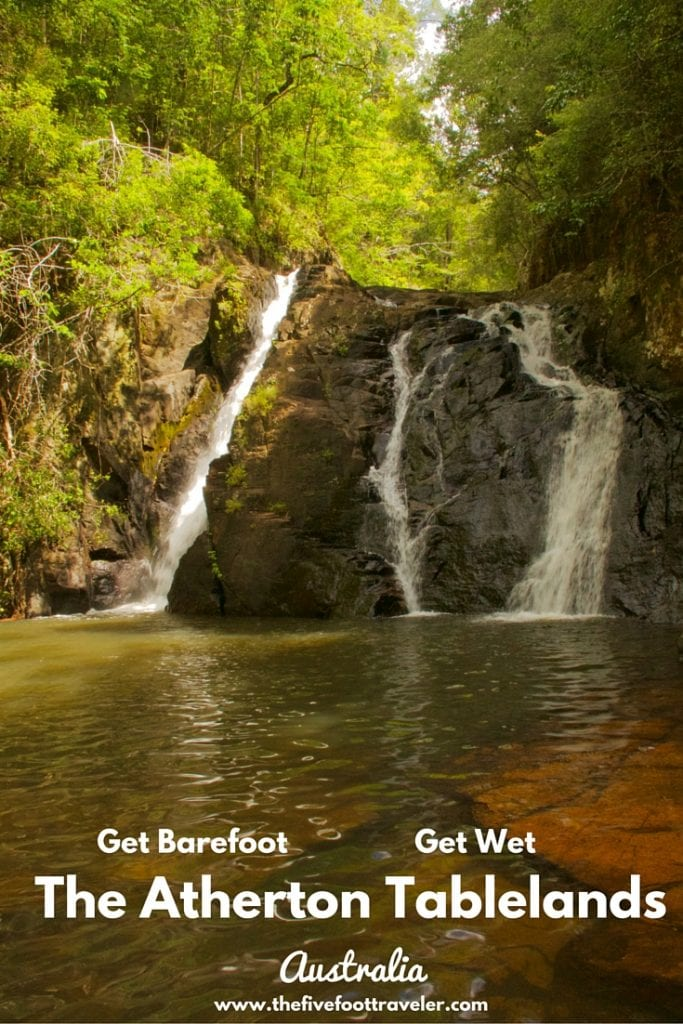 Take off your shoes, throw on your bathing suit (or go naked if that's you're thing), and get ready to explore the waterfalls of the Atherton Tablelands! Read more at www.thefivefoottraveler.com