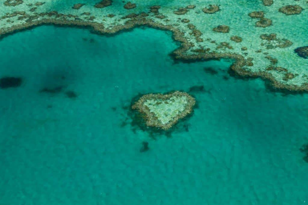 Who wouldn't want to see a natural heart sending you love from the Great Barrier Reef?! With GSL Aviation's Scenic Flight, we saw Heart Reef and more! Read more at www.thefivefoottraveler.com
