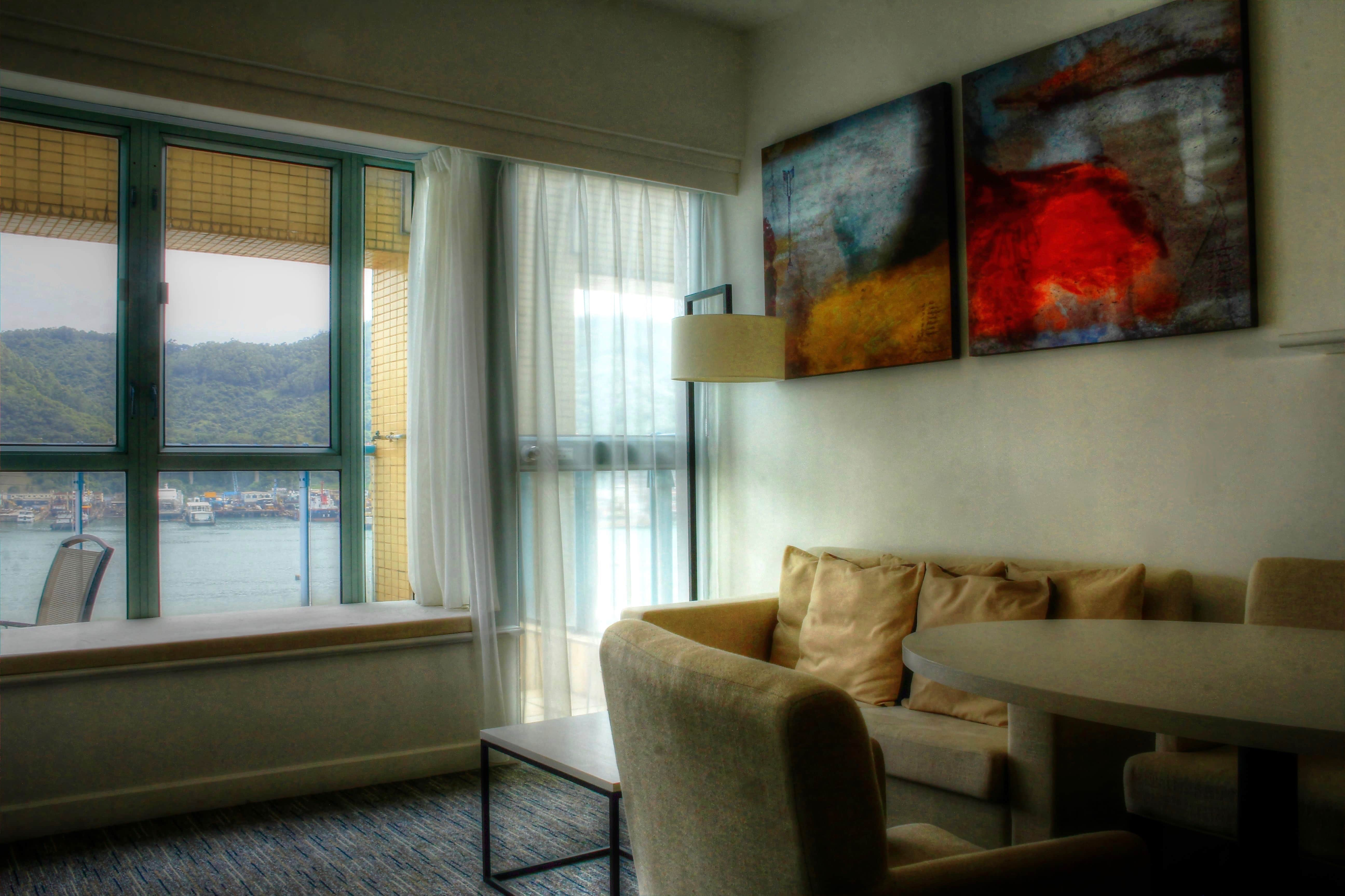 """Looking for apartment-styled accommodations in Hong Kong? Bay Bridge is not only comfortable, but a place you could call """"home."""" Read more at www.thefivefoottraveler.com"""