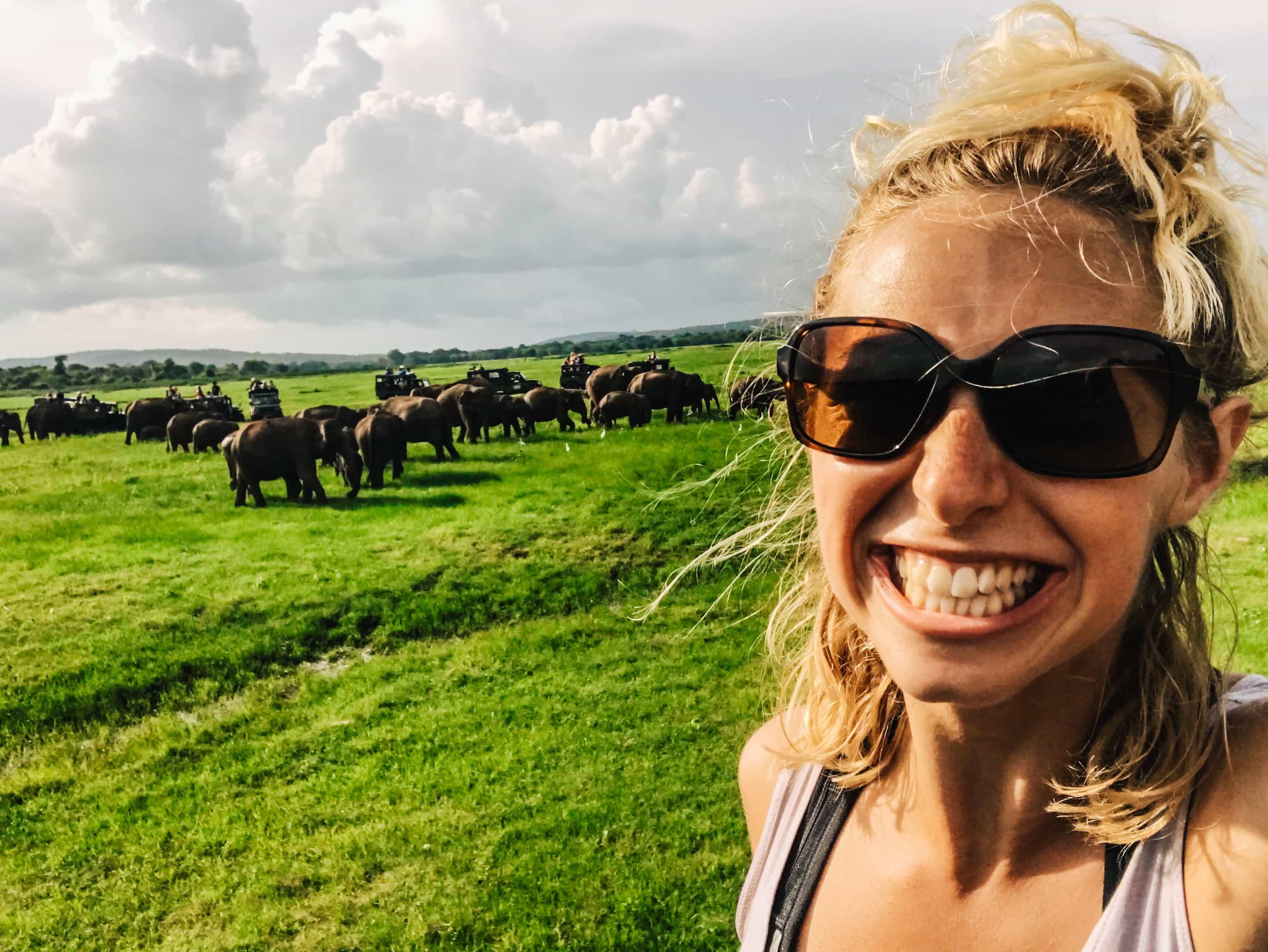 Elephant Safari in Kaudulla National Park with Lakpura Travels