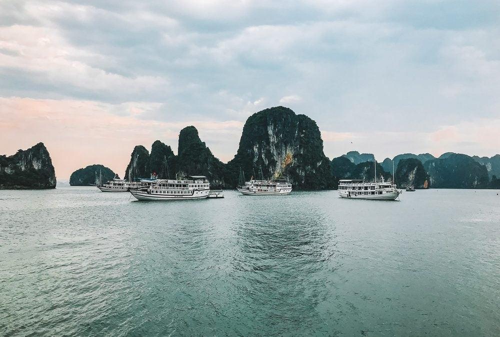 Sailing Bai Tu Long Bay on the Indochina Junk