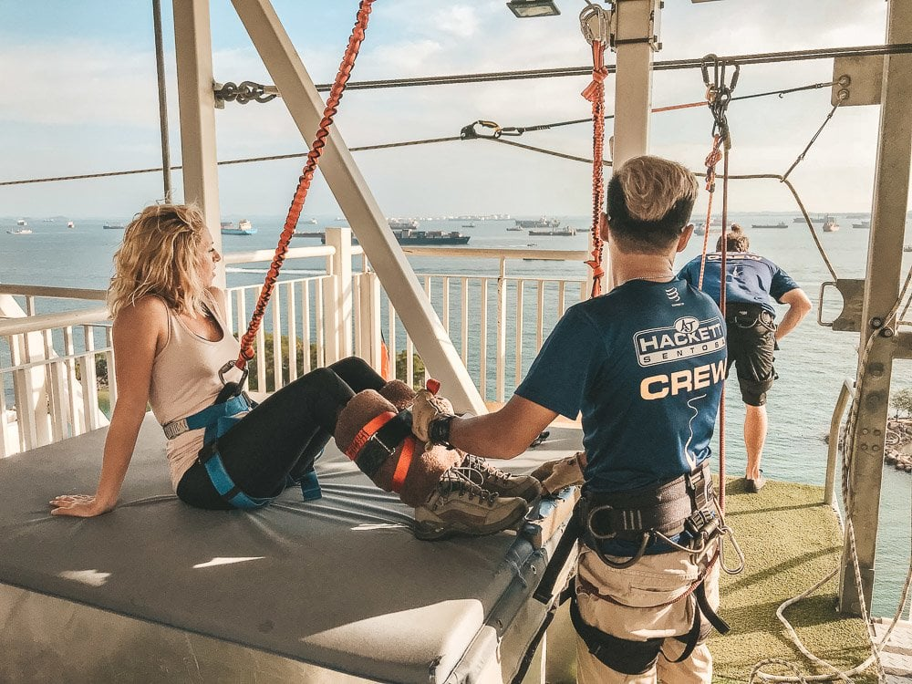 best travel pants for women, women's travel clothes, anatomie, 48 hours in singapore, 2 days in singapore, what to see singapore, best views singapore, ce la vi singapore, marina bay sands, gardens by the bay, flower dome, cloud forest, gardens by the bay light show, marina bay sands light show, haji lane, katong residences, joo chiat, aj hackett singapore, aj hackett sentosa, aj hacketts bungy singapore, hotel indigo singapore katong, hotel indigo singapore, best place to sleep singapore, best accommodations singapore, where to sleep singapore, katong