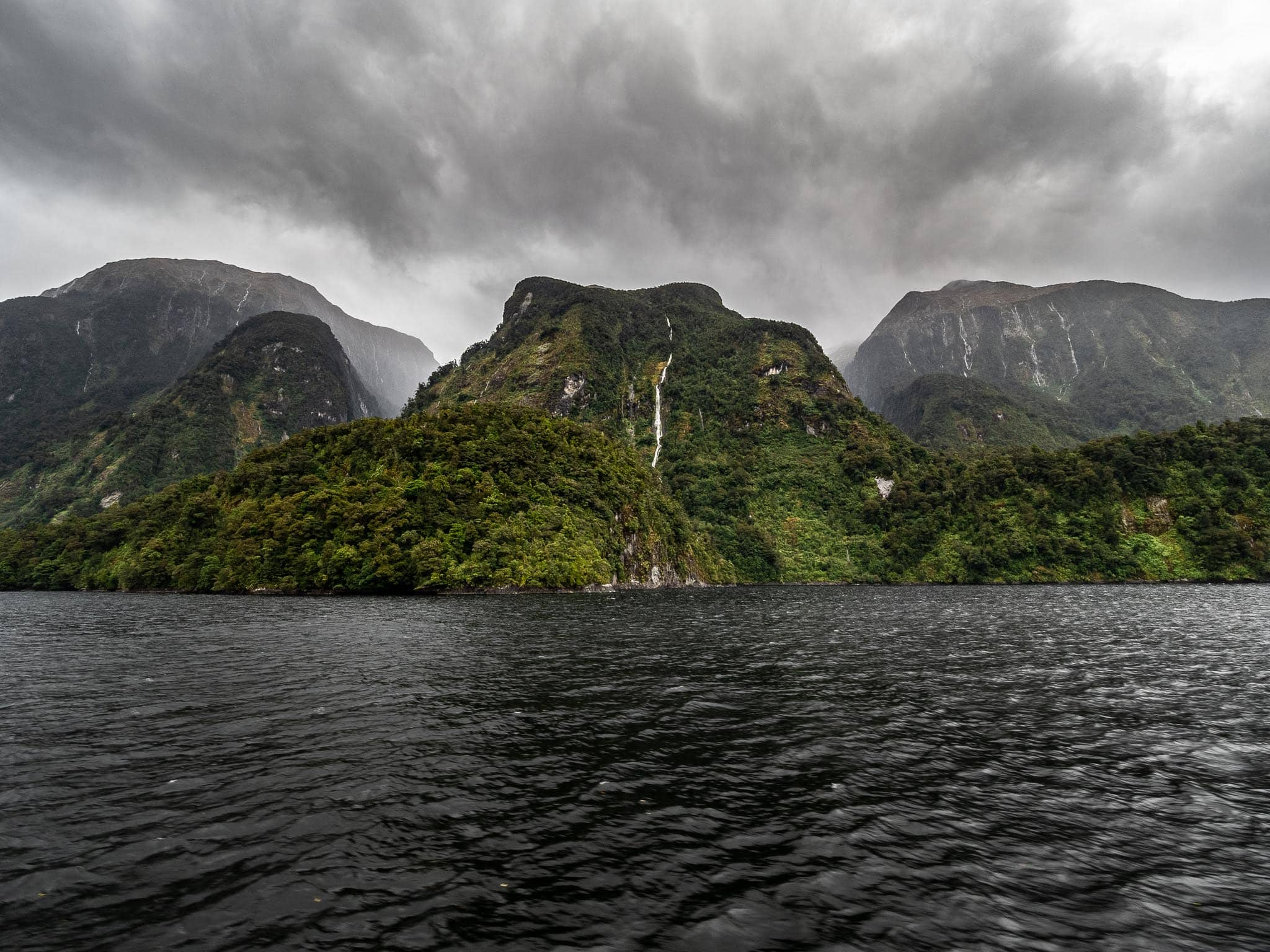 giant karst formations emerging from the water