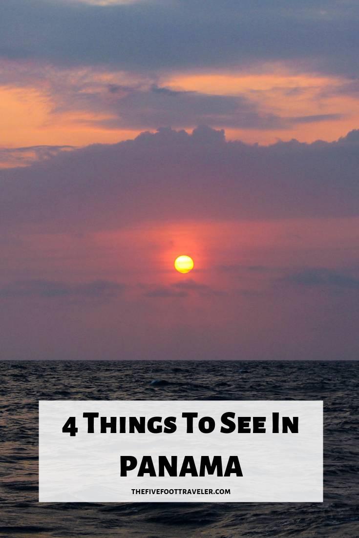 beautiful sunset off the coast of panama in the san blas islands