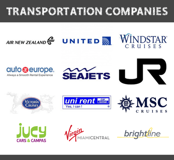 transportation companies i've worked with