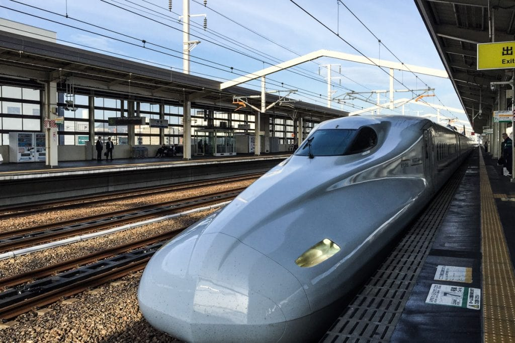 high speed train on tracks in japan - how to get around japan
