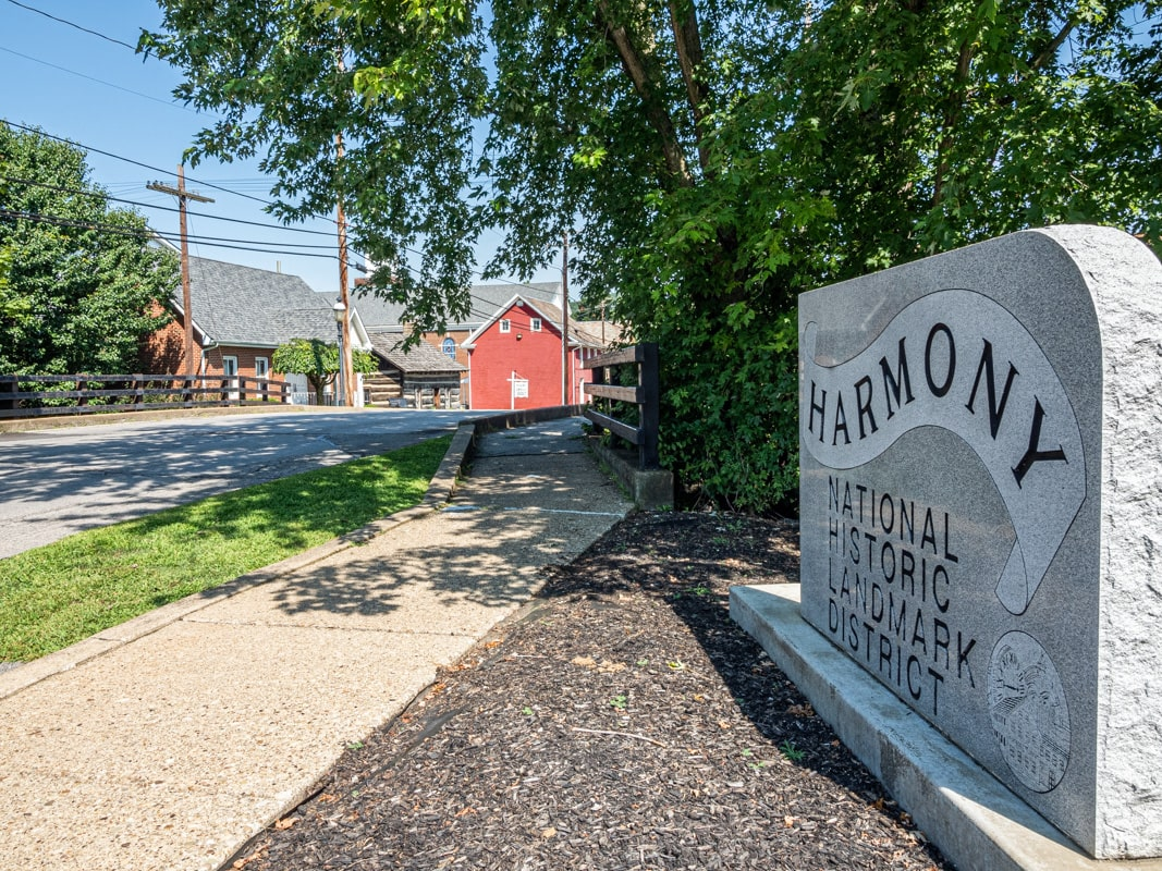 historic harmony district in butler county, pennsylvania