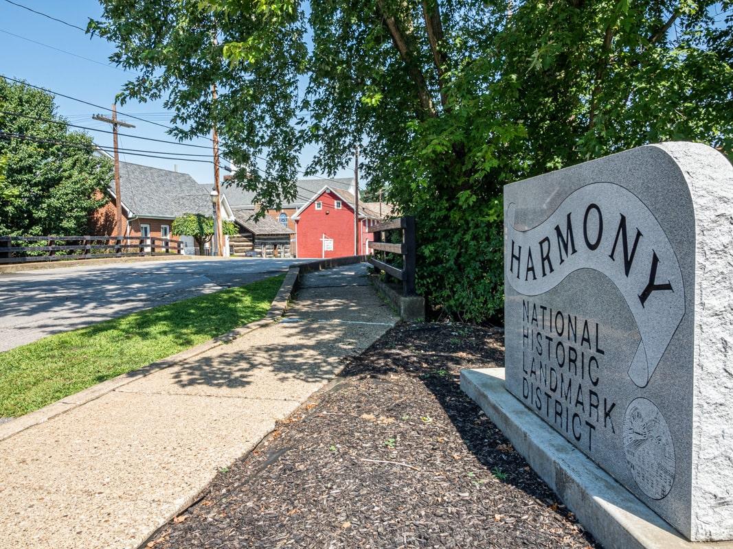 historic harmony district in butler county, pennsylvania