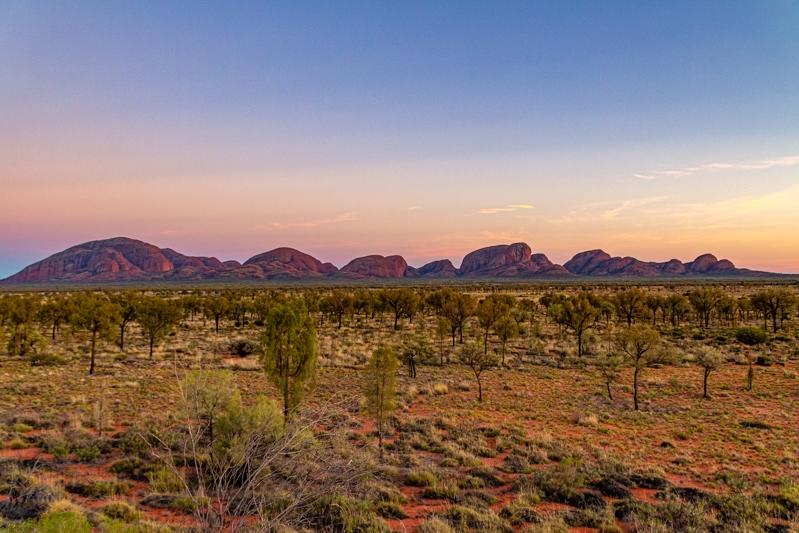 sunrise over kata tjuta - things to do in australia