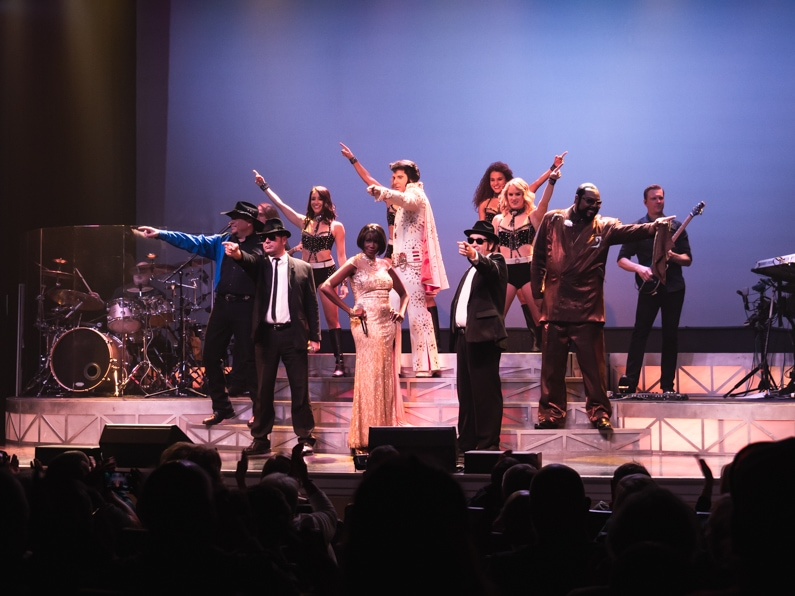 actors pose in the finally of the legends in concert show at myrtle beach