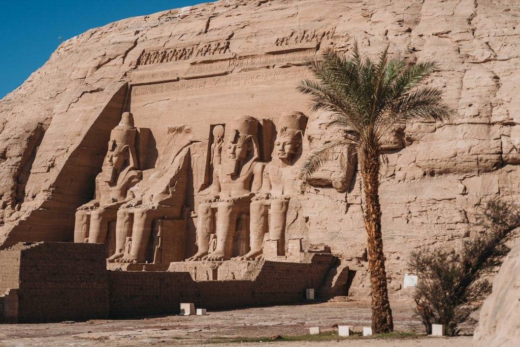 abu simbel carved into the rocks on an aswan to abu simbel tour