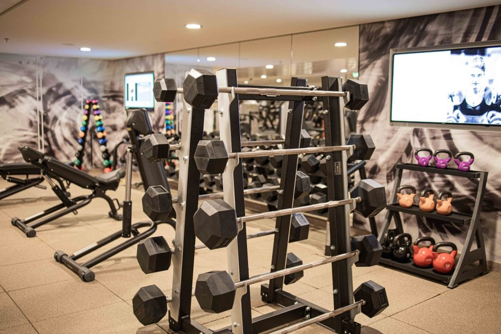 the weight section of the gym on the norwegian encore