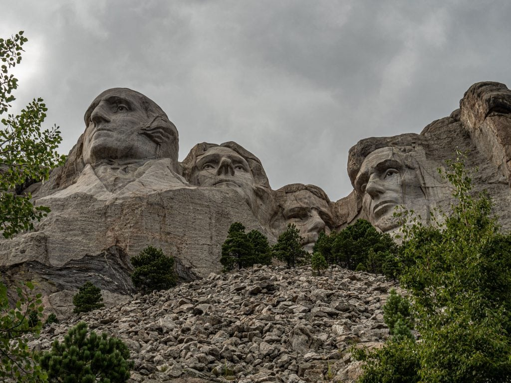 the four presidents on mount rushmore