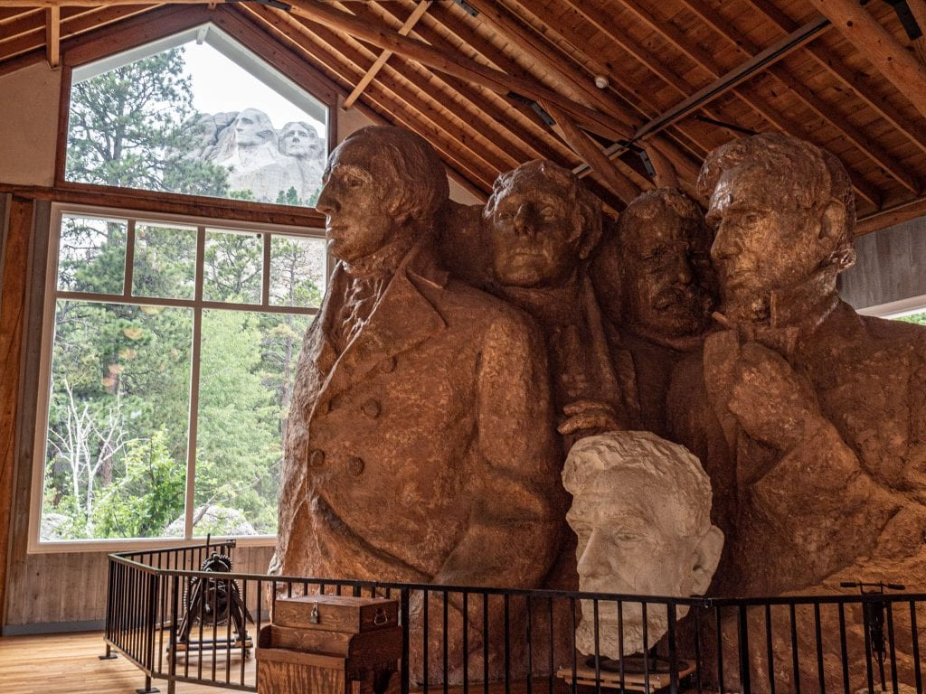 mount rushmore faces in the workshop