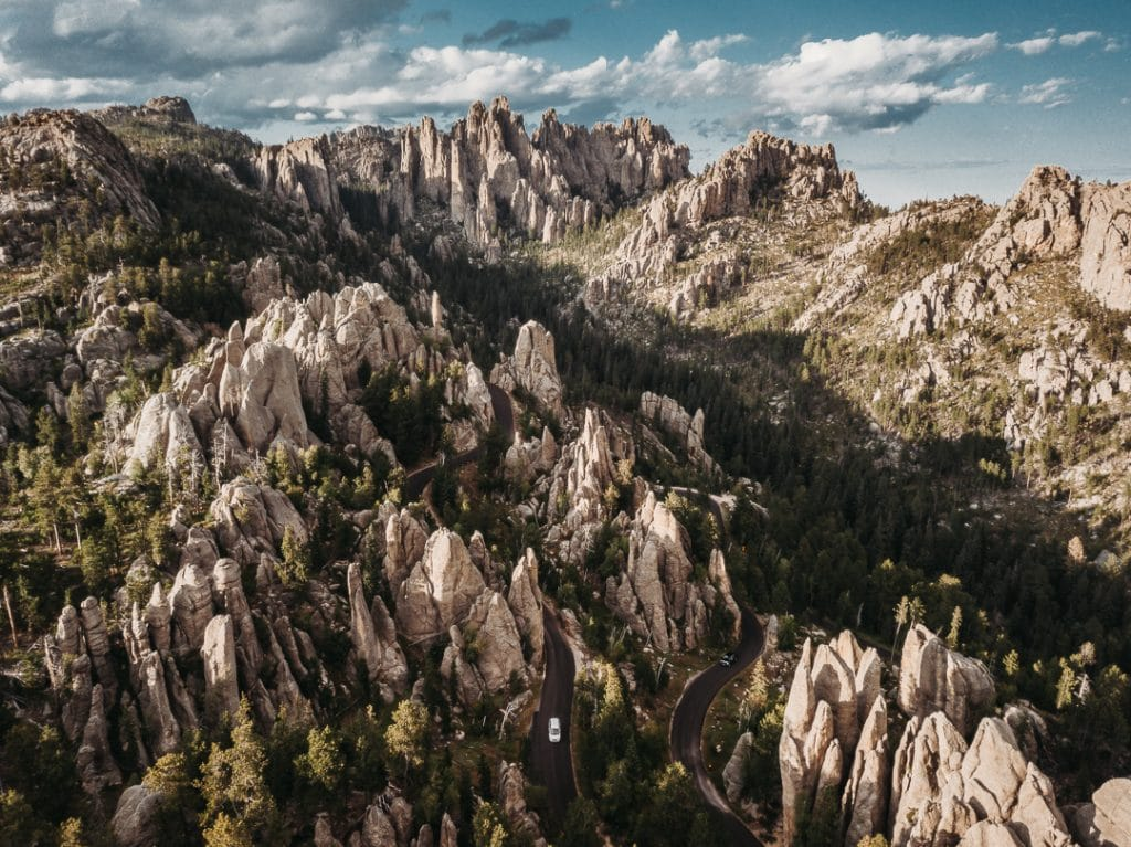 cathedral spires at custer state park