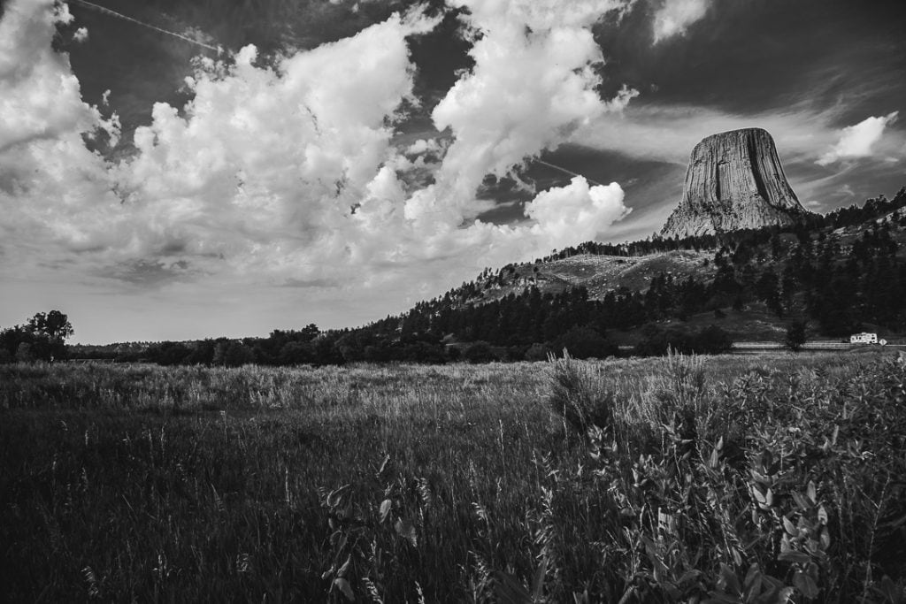 what is devils tower? a rock formation in wyoming